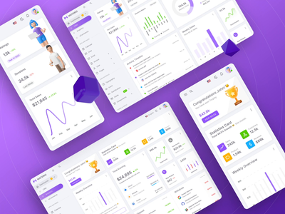 Materio – Vuetify Vuejs Admin Dashboard Template animation illustration 3d motion graphics cards inputs buttons components component vuejs dark dashboard admin theme uikit figma sketch admin dashboard bootstrap admin