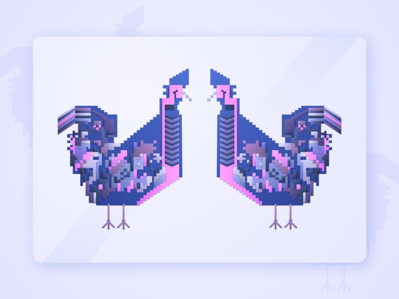 Chicken Geometric Illustration