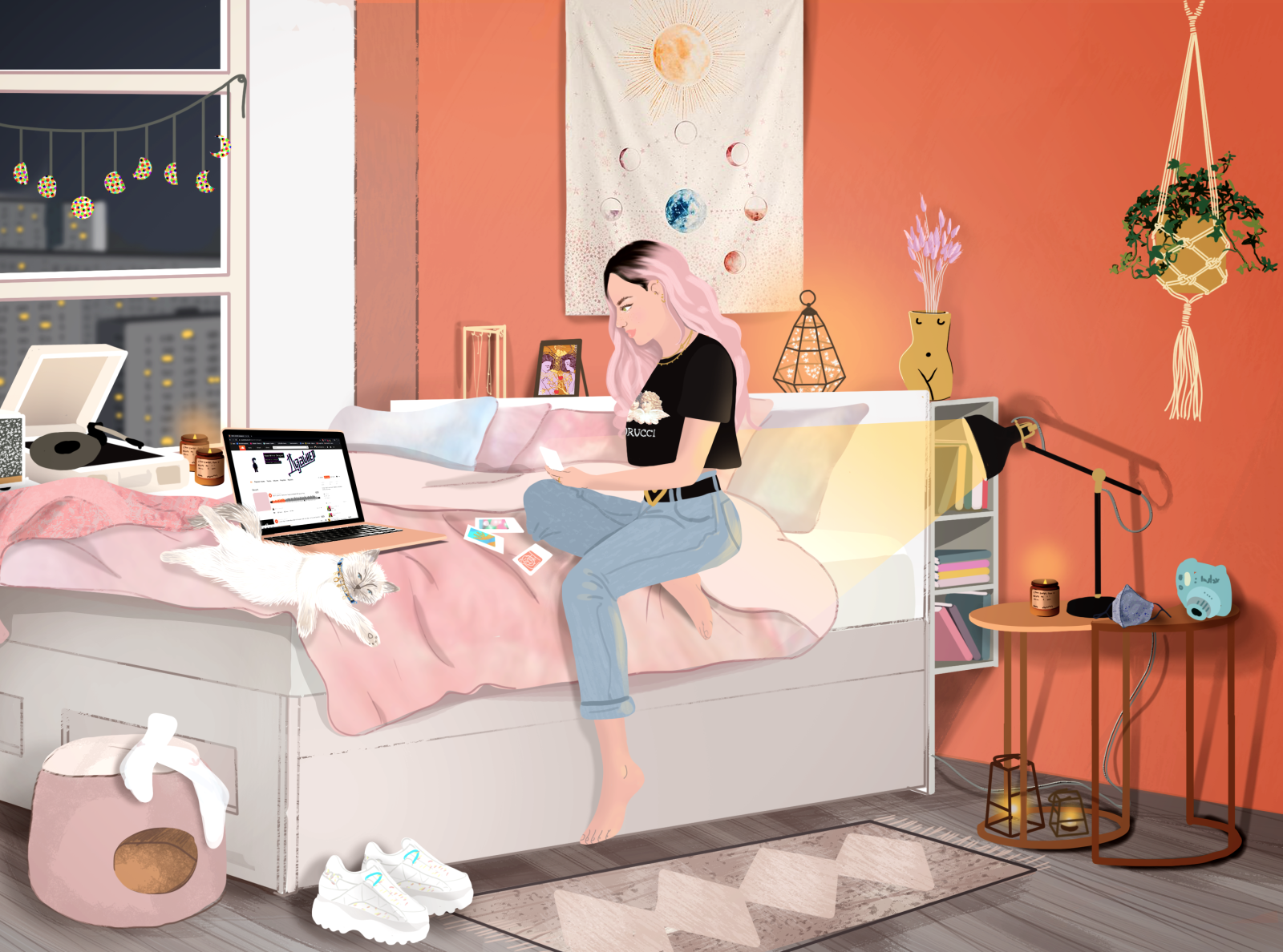 Cozy Room Illustration By Vera Weightless On Dribbble