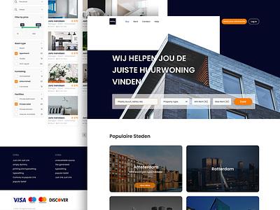 Real estate website uiinspiration webdesign uxdesign interface uitrends webdesigner dribbble designinspiration designer first shot design uiux ux