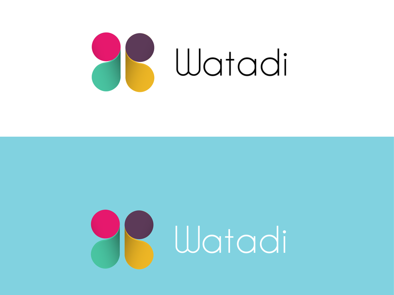 watadi branding typography color logo design clean