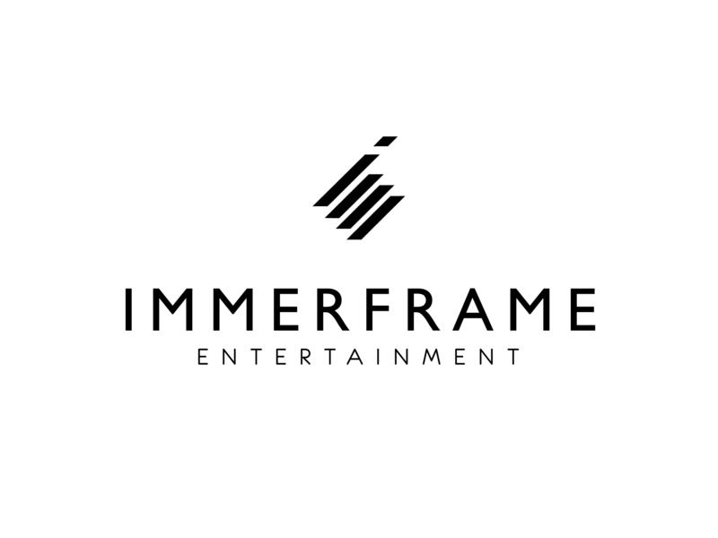 Immerframe vr design logo branding clean