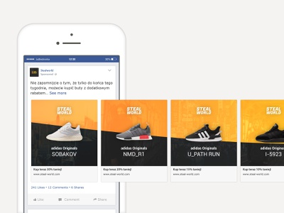Carousel advertisement on Facebook carousel ad facebook ad advertising facebook