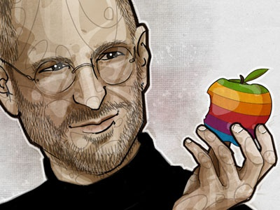 Think different... steve jobs illustration apple rip