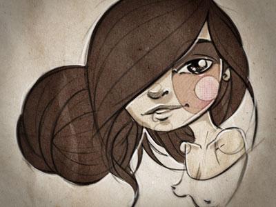 New avatar! self-portrait illustration digital character woman