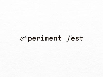 Experiment Fest education branding logo design
