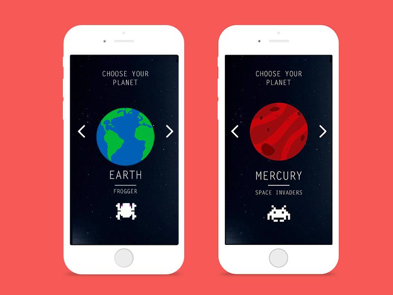 Game Screens game design design typography app design graphic design interaction design