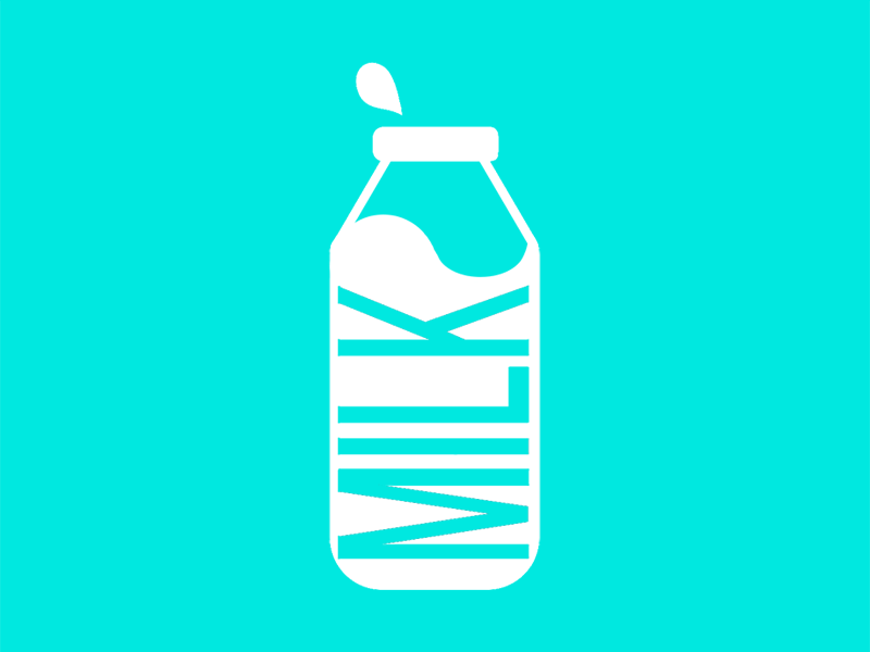 MILK Icon milk illustration icon design bold minimalist icon