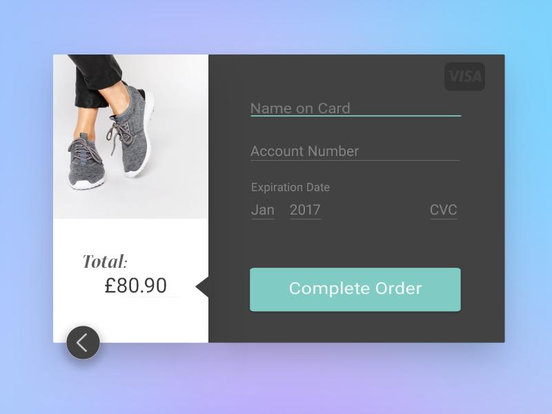 Desbit Card Payment Screen - DailyUI 002 material purchase price minimalist app design web design ux ui dailyui 001 daily ui