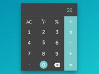 A Custom Calculator - DailyUI 004