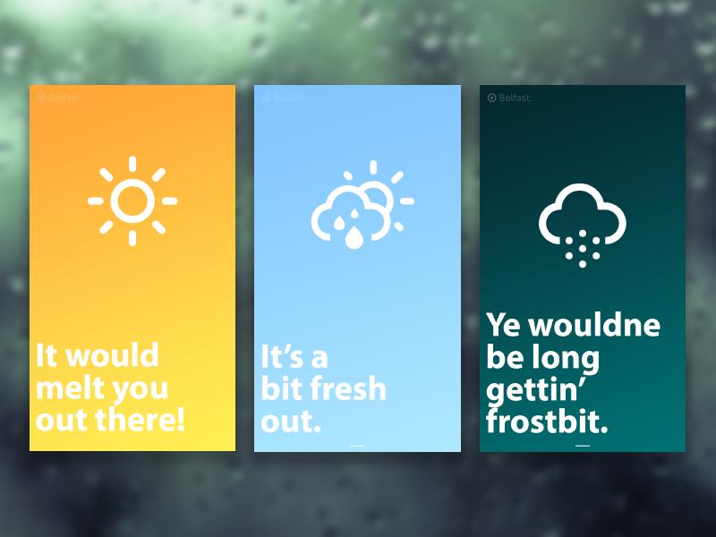 Wee Weather App northern irish web design app design weather app weather