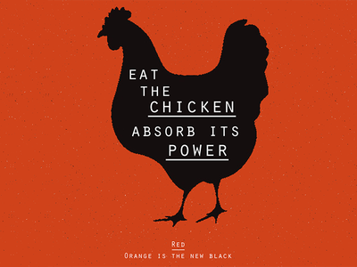 OITNB chicken black orange i cannot wait poster design graphic design orange is the new black oitnb