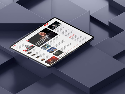 LIFE — The New Site interaction animation news 3ds cinema4d 3dsmax apple geometry cube main page tablet ipad mobile app web motion after effects uiux ui life