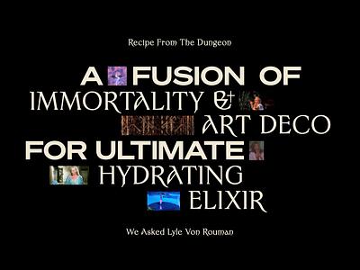 Elixir Of Pleasure — Typography elixir death motion gif animation artdeco font typography magic mystical purple logo