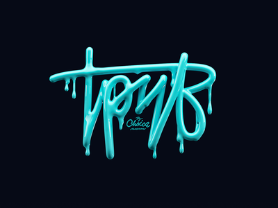 Troove — Local Sales & Deals graffiti lettering typography blue neon troove branding logo animation illustration 3d