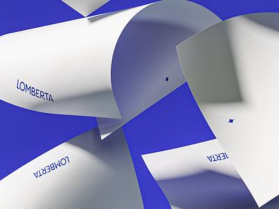 Lomberta — Magic Paper packaging presentation logotypes branding typography logotype home illustration blue paper