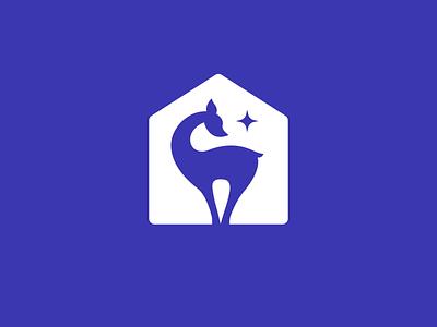 Lomberta — Emblem clean home blue graphic design animation deer emblem branding logo