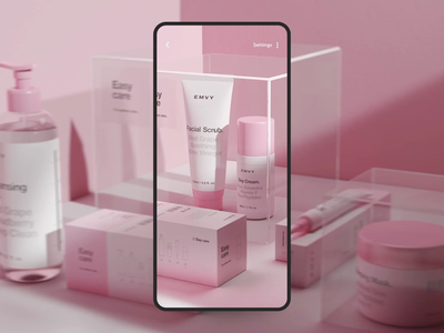 Search With AR cart store online app buy cosmetics emvy shop add reality reality ar online ui ux application after effects motion mobile animation app choice