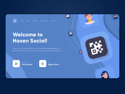 Landing Page Animation facebook network social network crypto interface landscape landing page social appear animation landing web ux ui