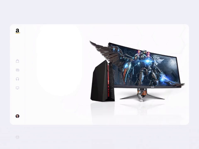 Amazon Concept – Gaming PC Landing Page product minimalistic good interaction ecommerce presentation landing games pc 3d amazon animation web ux ui