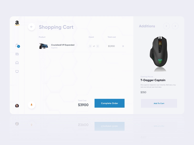 Complete Order Interactions shipping shop card future clean desktop checkout cart order animation web ux ui
