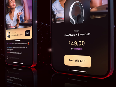 Stream Shop Auction Preview streaming app shopping stream shop streaming mobile ui live streams chat bet mobile app auction ecommerce shop stream mobile ux ui