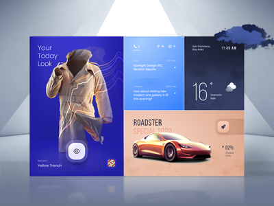 Personal Assistant AR Concept control panel vr future smart home clothes notifications car tesla fashion look weather dashboard assistant ar web ux ui