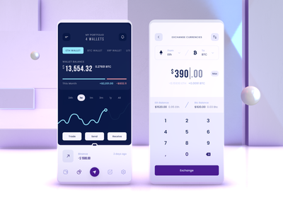 Crypto Wallet Mobile - Balance Details & Swap transactions chart ethereum bitcoin defi crypto wallet currencies assets exchange swap balance finance banking crypto wallet design interface mobile ux ui