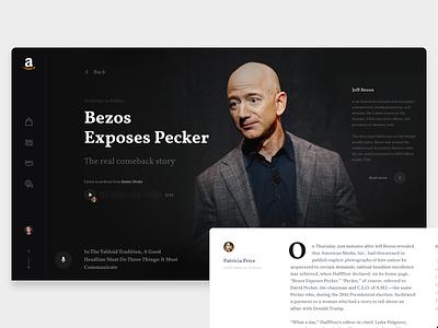 Amazon News Concept web ux ui concept newspaper amazon news