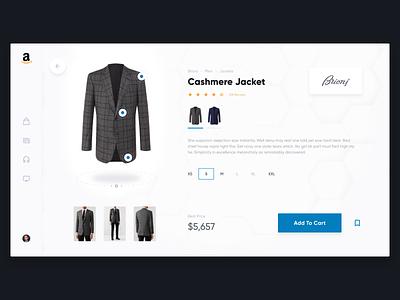 Amazon Concept – Product Page clothes store e-commerce shop amazon desktop web concept ux ui