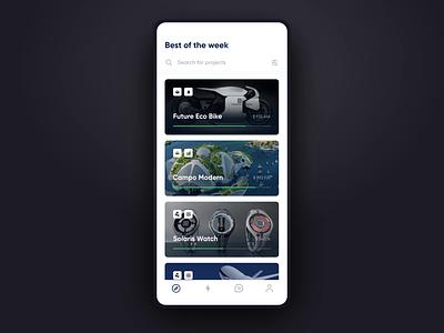 Support project flow invest mobile design mobile app design design mobile app motion animation project support kickstarter mobile ux ui