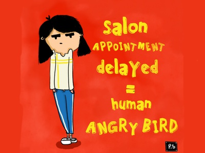 Very Angry Bird. angry bird character design font texture color doodle illustration art game