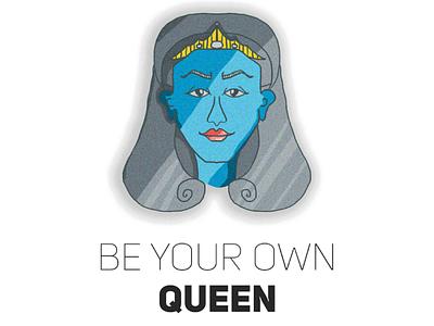 Queen Boss creative women pattern texture color photoshop graphic design illustrator design illustration