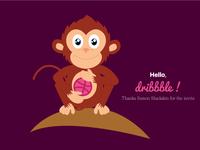 Monkey Dribbble