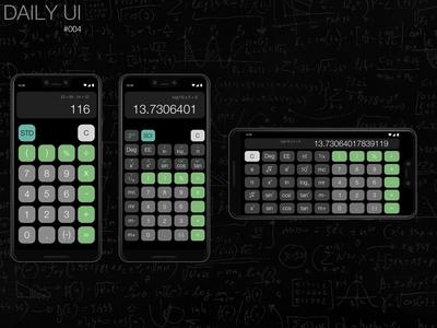 Daily UI 004 - Design a calculator