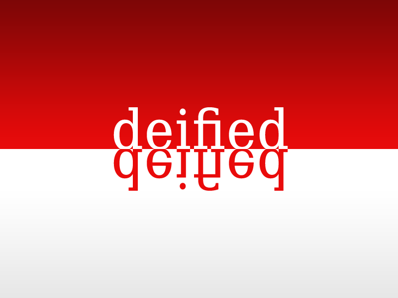 Deified logo typography design minimalism