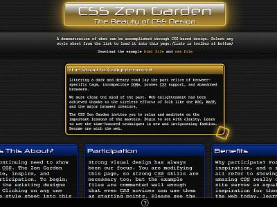 Neuromancer css zen-garden feedback input critique web design