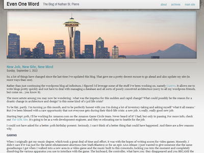 Eow Site website blog design layout