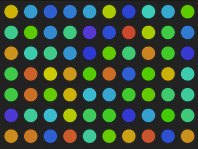 Fun With Circles procedural background html5 css3