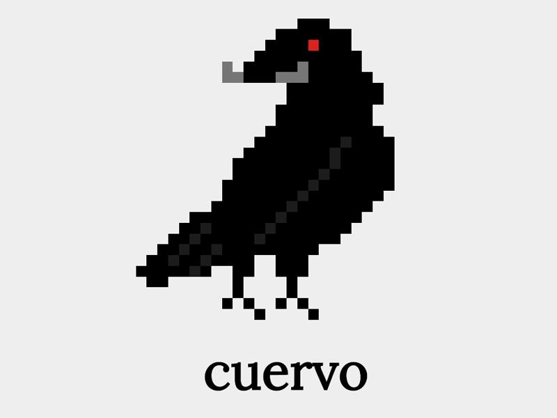 Cuervo Logo software pixel logo
