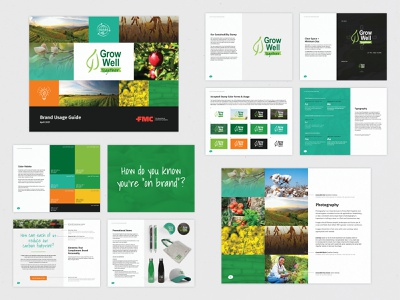 Sustainability Brand — usage guide report farming icons color palette promotional usage guide organic graphic design typogaphy logo layout design agriculture sustainability brand guide branding