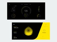Bicycle ride concept app UI