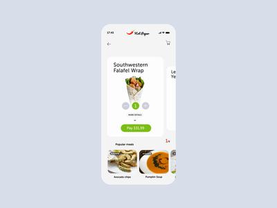 Plant Based Food Order Concept App