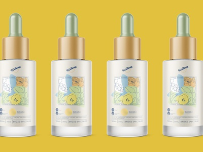 CBD Vitamin Tincture Concept cbdoil illustration floral cbd packaging bottle design bottle tincture wellness vitamin cbd