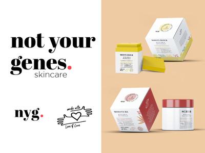 Skincare Line Scrub & Moisturizer Packaging Concepts skincare beauty cbdoil cbd flowers fruits red yellow packaging concepts designs jar bottle moisturizer box