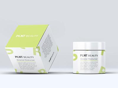 Botanical Moisturizer Packaging Concept clean skincare organic plant based plant green white lid jar tub box cream moisturizer packaging wellness logo beauty branding