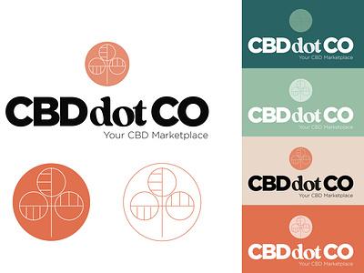 CBD Market Place Logo Concept cbd packaging typography geometric design cbd branding cbd logo colors retro branding website ecommerce logo marketplace cbdoil cbd