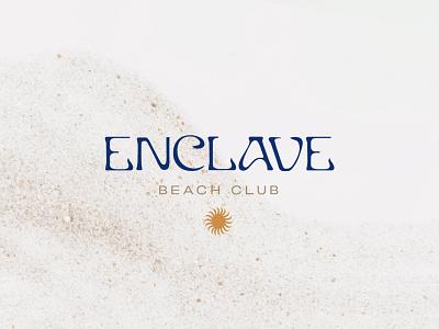 Enclave Primary Logo branding brand illustrator design cabo hotel hilton logodesign summer sun primarymark luxury mexico beachclub beach logo