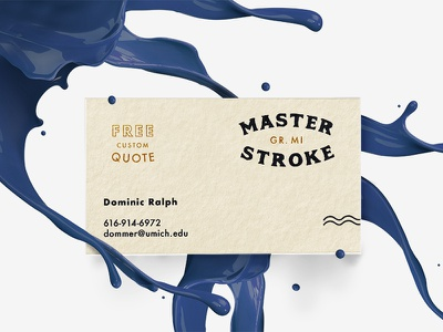 Master Stroke Business Card photoshop freelance design cards brand mockup business card branding