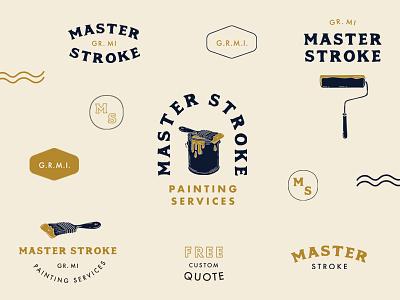 Master Stroke Branding painters housepainter paint illustrator design logokit brand logo branding